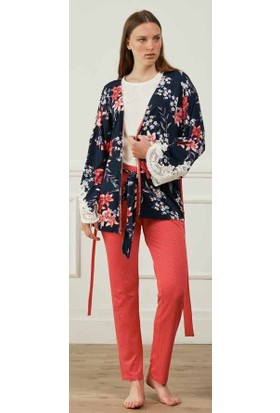 Feyza 3591 Sabahlıklı Pijama Takımı
