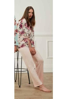 Feyza 3592 Sabahlıklı Pijama Takımı