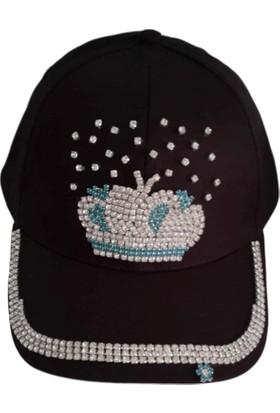 Hopgüm El İşi Taş İşlemeli Kot Şapka