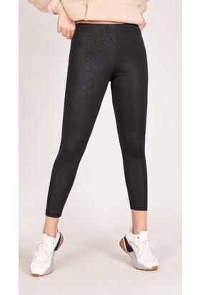 Bendee Collection Kadın Yılan Desenli Tayt Pantolon