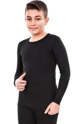 İntimo Erkek Çocuk Garson Boy Siyah Uzun Kollu Termal Atlet 4081-1