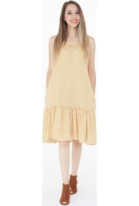 FullaModa Kadın Fırfırlı Elbise