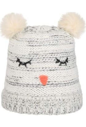 Nordbron 7159C007 Furry Beanie White Çocuk Bere