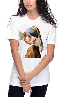 TakeTshirt Billie Eilish İnci Küpeli Kız T-shirt
