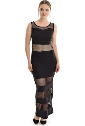 Sense Kadın Siyah File Elbise Elb14653