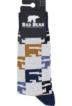 Bad Bear Gri Erkek Çorap