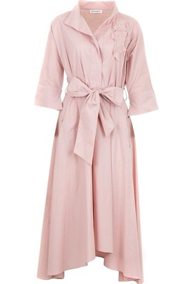 Bizefashion 2229 Kadın Casual Elbise Pudra