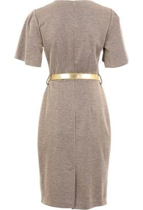 Polin 419241076 Kadın Elbise Altın