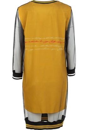 Say 1925039 Kadın Elbise Hardal