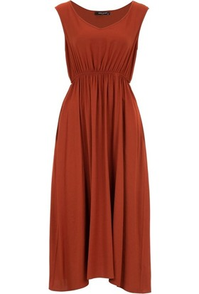 Miss Lilium 10857 Kadın Elbise Kiremit
