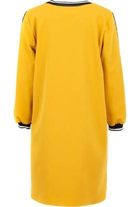 Say 1925016 Kadın Elbise Hardal
