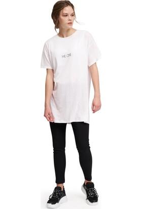 Mizalle Bisiklet Yaka Basic T-Shirt