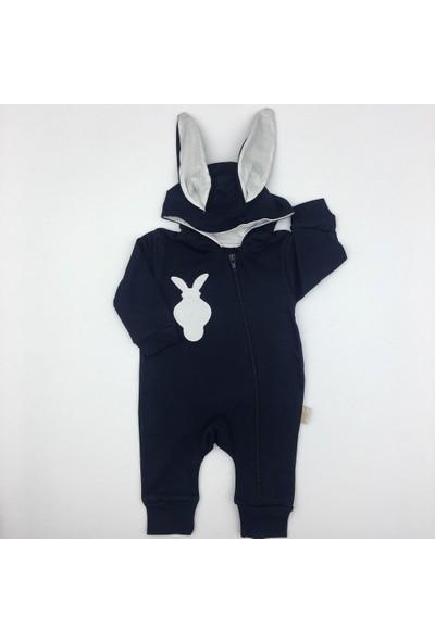 Murat Baby Tavşan Şapkalı Erkek Bebek Tulum