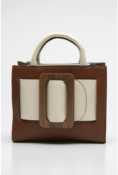 Rovigo Plus Kadın Taba Bej Çanta