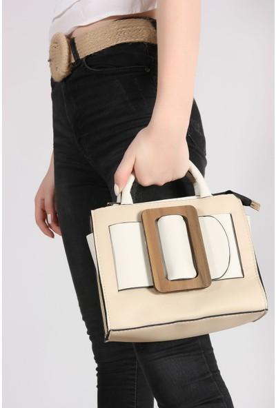 Rovigo Plus Kadın Ten Bej Çanta