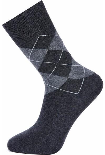 Hemington Erkek Baklava Desen Pamuklu Antrasit Çorap