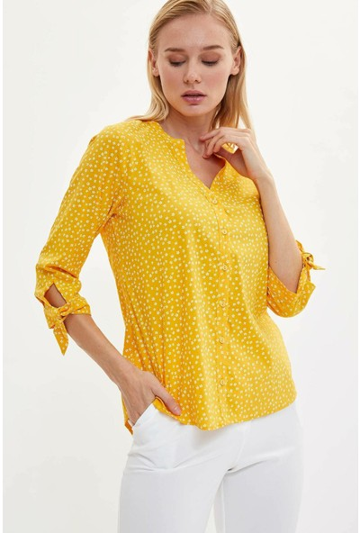 Defacto Kadın Uzun Kollu Gömlek
