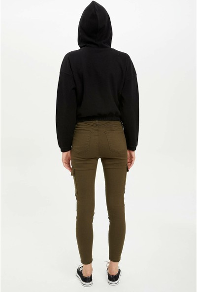 Defacto Kadın Super Skinny Fit Kargo Pantolon