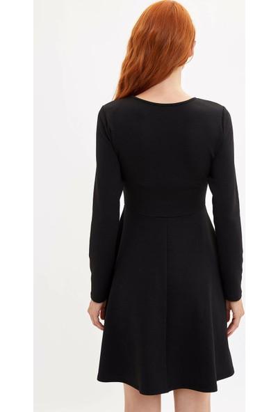 Defacto Kadın Slim Fit Örme Elbise
