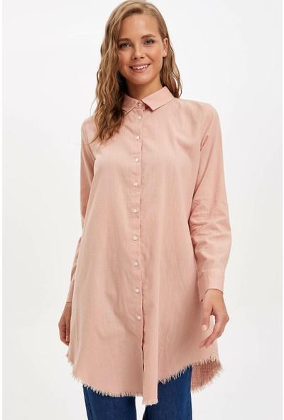 Defacto Kadın Uzun Gömlek Tunik