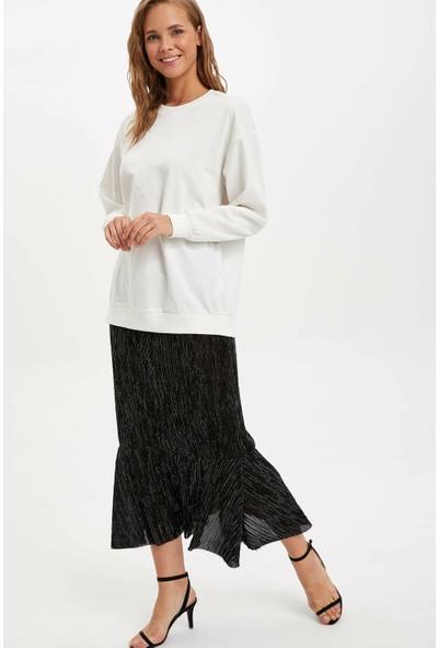 Defacto Kadın Örme Uzun Etek