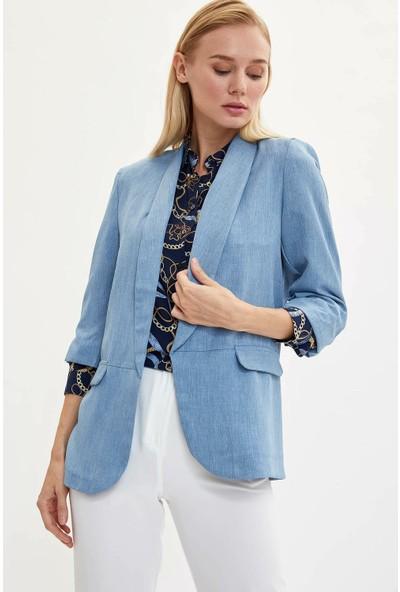 Defacto Kadın Slim Fit Blazer Ceket