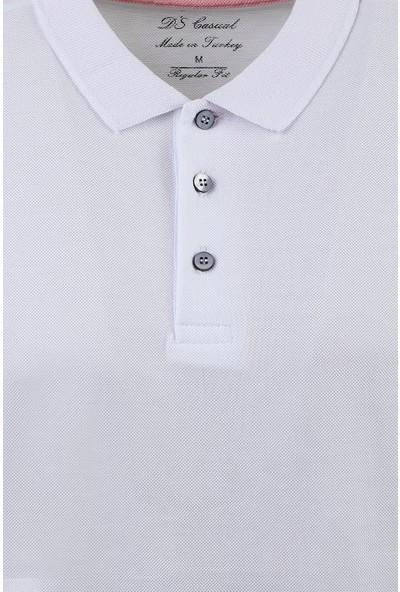 D'S Damat Erkek Regular Fit Tshirt Beyaz