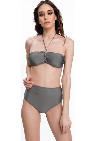 Armes Kadın Bikini Takımı Boyundan Bağlı Gri 9608-18