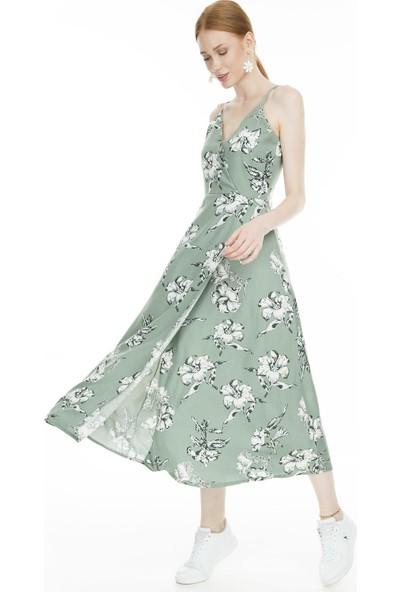 Lela Çiçekli Kruvaze Kadın Elbise 519182802