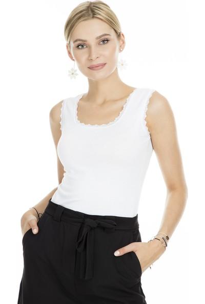 Lela Tırtıklı Dantel Kadın Atlet MK19S264575