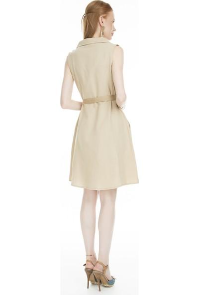 Lela Hasır Kemerli Elbise Kadın Elbise Mk19S283146