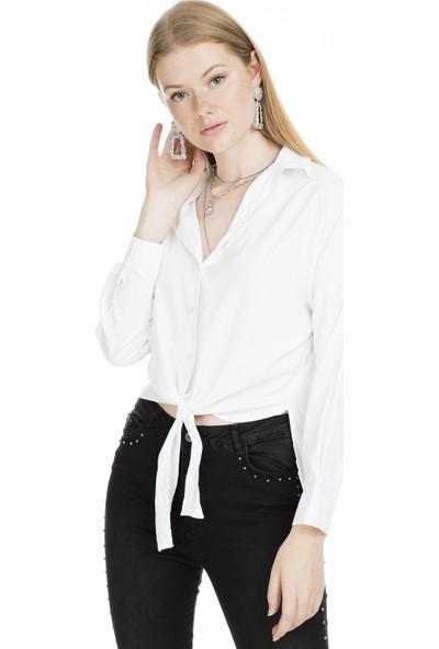 Lela Bağlama Detaylı Kadın Gömlek MK19S161963