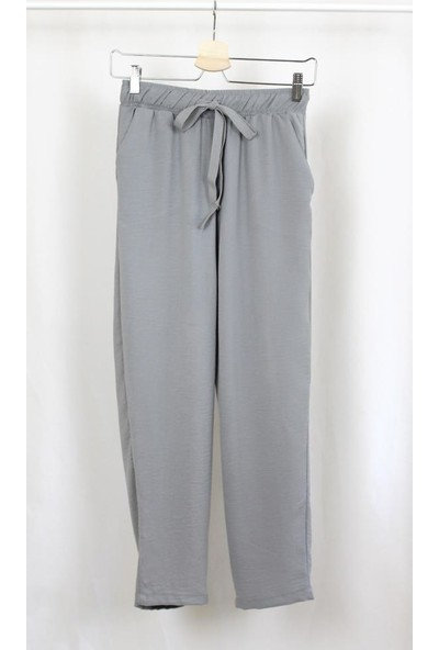 Bukika Kadın Beli Lastikli Uzun Pantolon