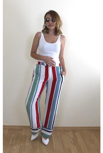 Bukika Kadın Çizgili Uzun Pantolon