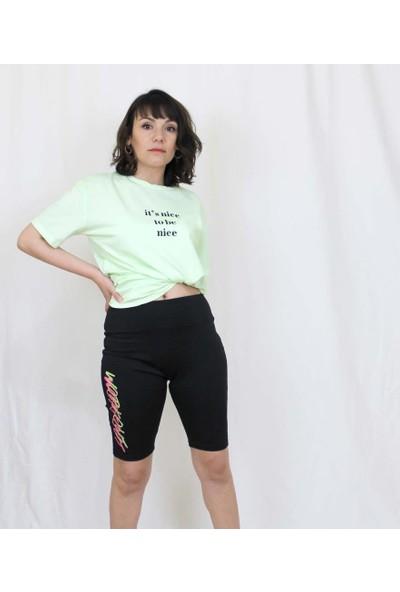 Bukika Kadın Baskılı Bisiklet Spor Tayt Xyw006