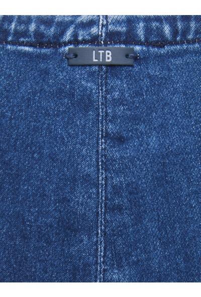 LTB Roza Palmira Wash Kadın Jeans Elbıse