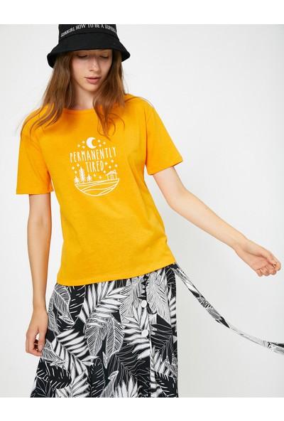 Koton Kadın Yazılı Baskılı T-Shirt
