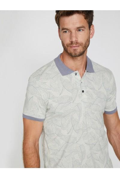 Koton Erkek Desenli, Polo Yaka T-Shirt