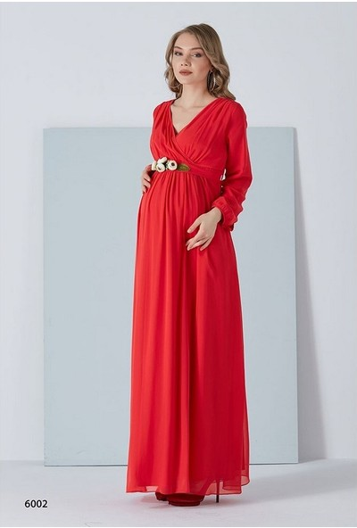 Entarim Şifon Hamile Baby Shower Elbise