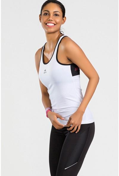 Tommy Life Arka Yazı Detaylı Beyaz Micro Kadın Sporcu Atlet