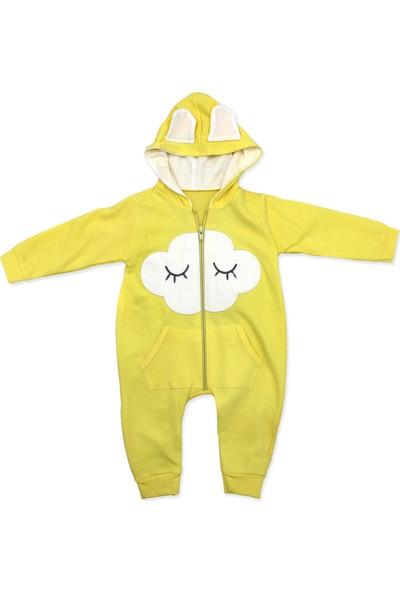 Murat Baby Sarı Kapşonlu Uyuyan Cepli Bulut Bebek Tulumu K2948 X 62 cm
