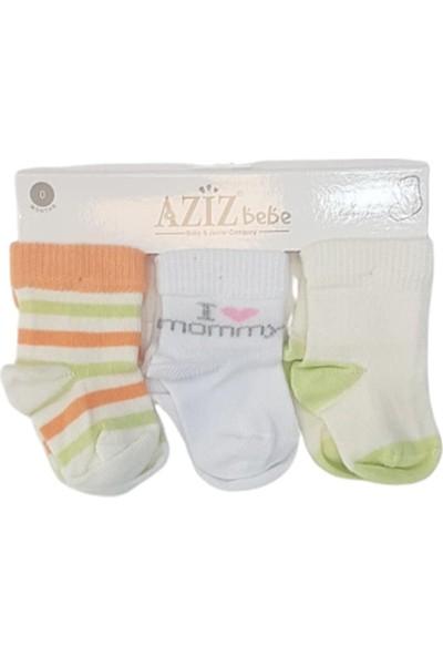 Aziz Bebe C35319 Bebek Dikişsiz 3'lü Çorap