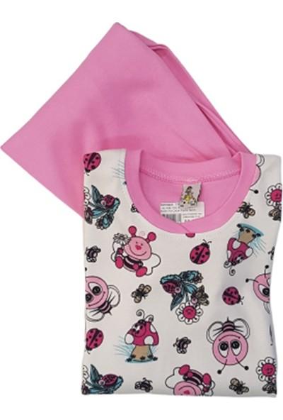Lolly Dolly 1503 Arı Çiçek Baskılı Kız Çocuk Pijama Takımı