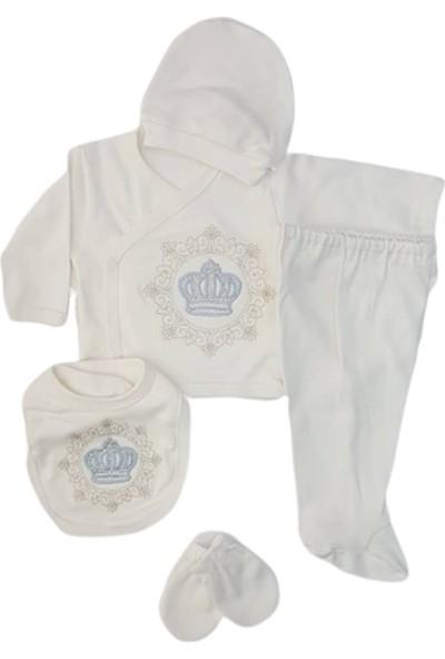 Zıpır Baby 523 Taçlı Erkek Bebek Yeni Doğan 5'li Set