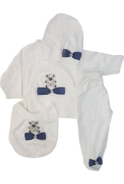 Donino Baby 11901 Ayı Taşlı Erkek Bebek 5'li Set