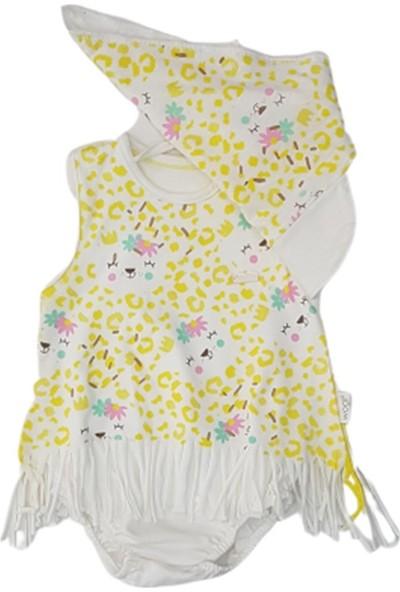 Wogi Baby 5278 Kız Bebek Jungle Boneli Elbise Takım