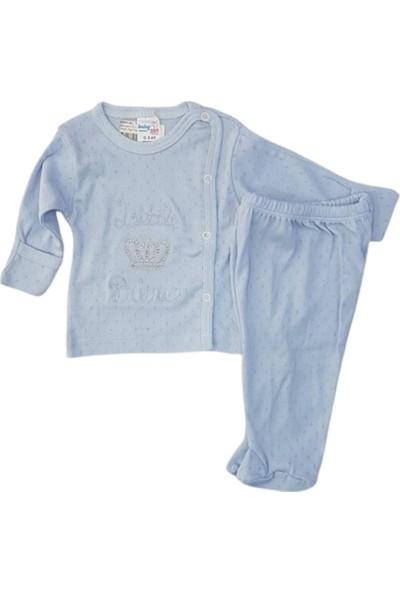 Babycan 0101 Erkek Bebek Jakarlı Taşlı Pijama Takımı