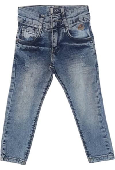 Süzgün Kids 8721 Çocuk Likralı Kırınkıl Kot Pantolon