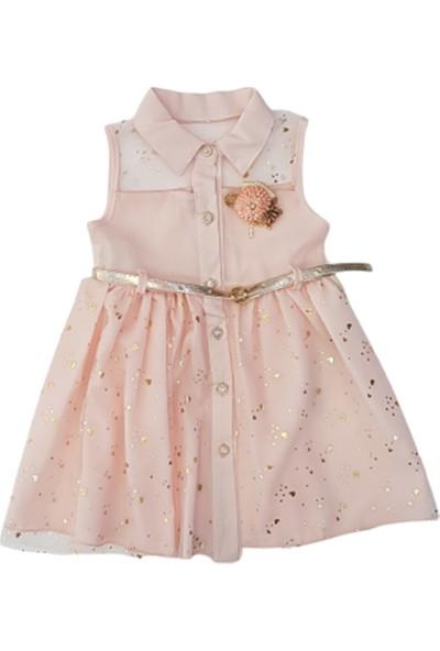 Eray Kids 5657 Kız Çocuk Kalpli Tüllü Elbise