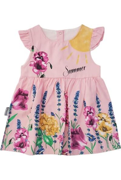Bıdırık Kids 822 Kız Bebek Güneş Sümbüllü Elbise